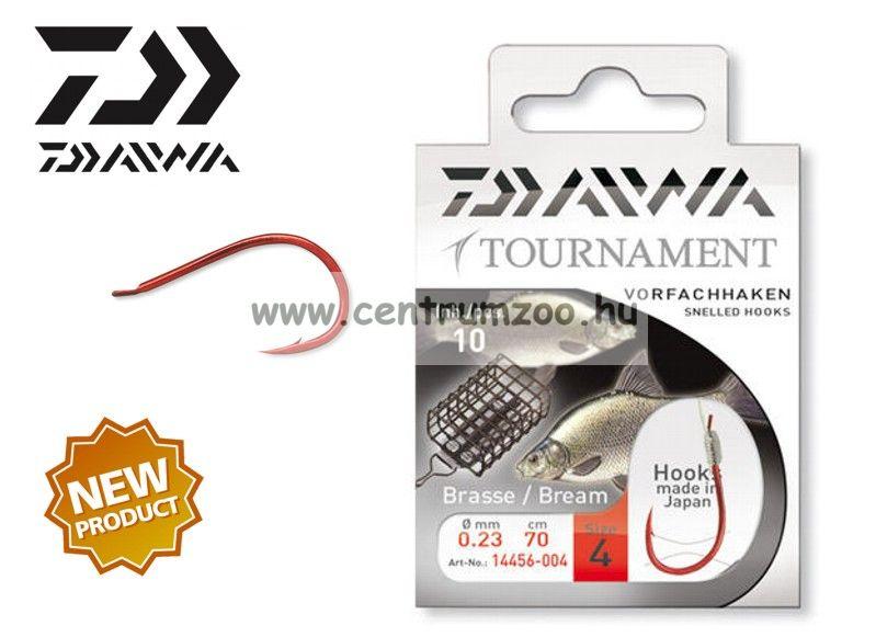 Daiwa Tournament X Power Brassen/Feeder Snelled Hooks előkötött horog - DÉVÉRES (1456) (14456-0 )