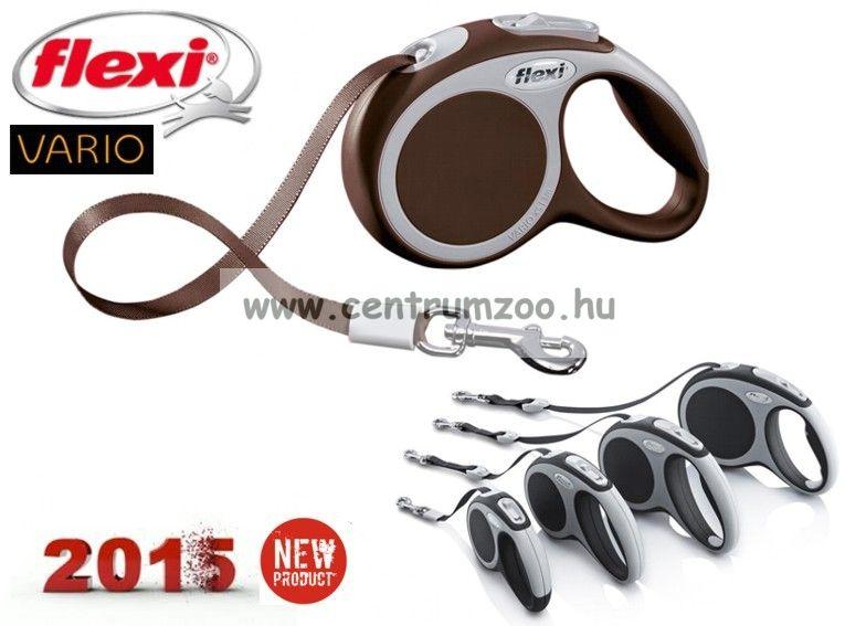 Flexi Vario Tape 2015NEW L BRAUN SZALAGOS 8m 50kg automata póráz -BARNA