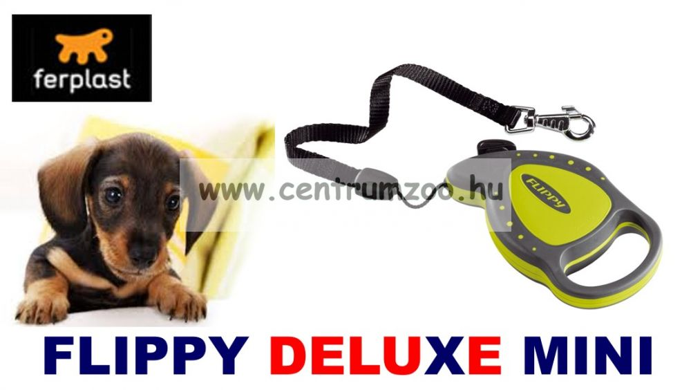 Ferplast Flippy Deluxe mini póráz ZÖLD
