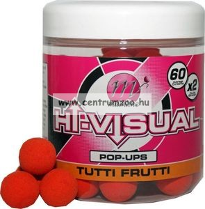 MAINLINE Baits High Visual Pop-Ups TUTTI FRUTTI 10mm 50db lebegő fluo bojli (M13009)