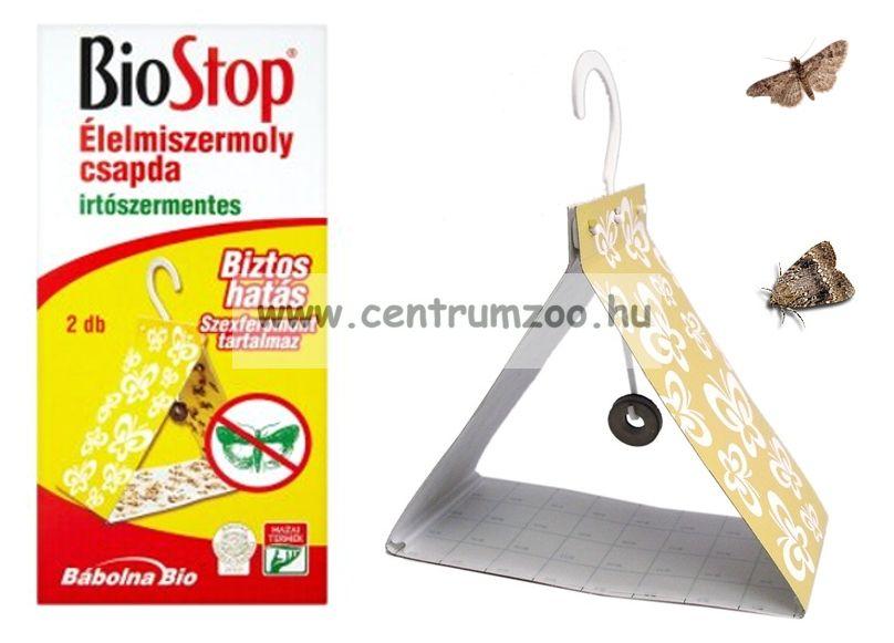 BIOSTOP ÉLELMISZERMOLY CSAPDA, RAGASZTÓ LAP 2db/csomag