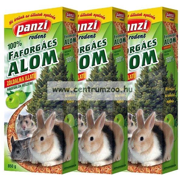 Panzi Rodent Nature préselt forgács alom 3*15 liter