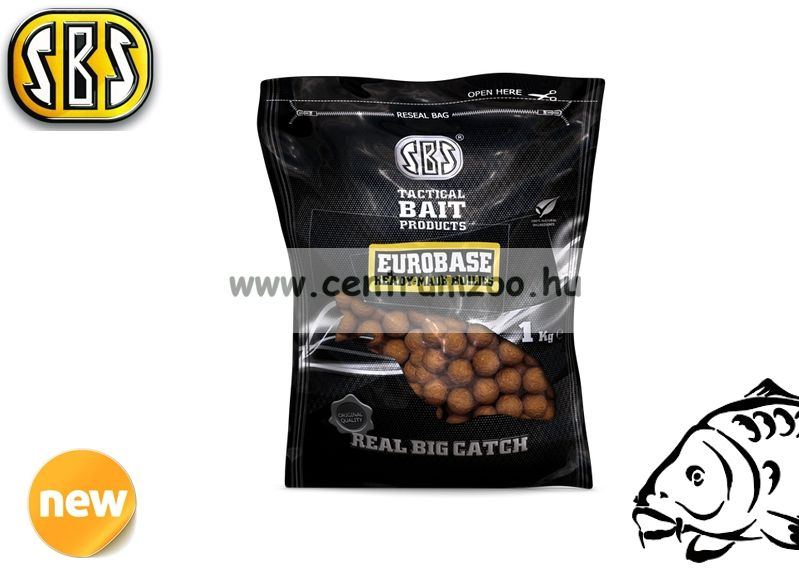 SBS EuroBase Ready-Made Boilies 20mm 1kg- 2014NEW - Strawberry Jam (eperkrém) 70005