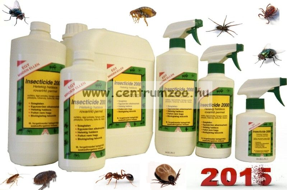 Insecticide 2000 rovarölő utántöltő  1 liter (kullancs, bolha, tetü, atka, hangya, légy, moly)