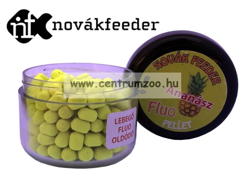 Novák Feeder Fluo pellet 6mm 20g - Ananász