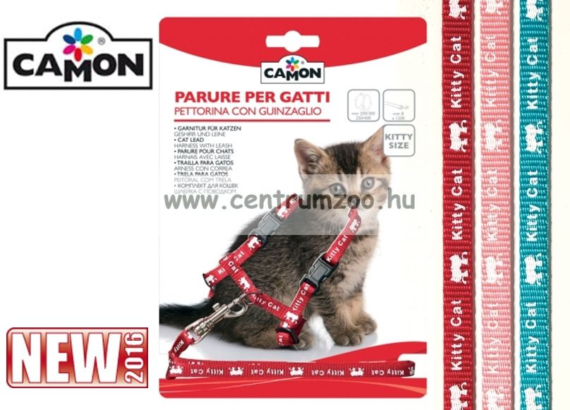 """Camon Parure """"Gattini""""   cicahám + póráz több színben (D631/A)"""