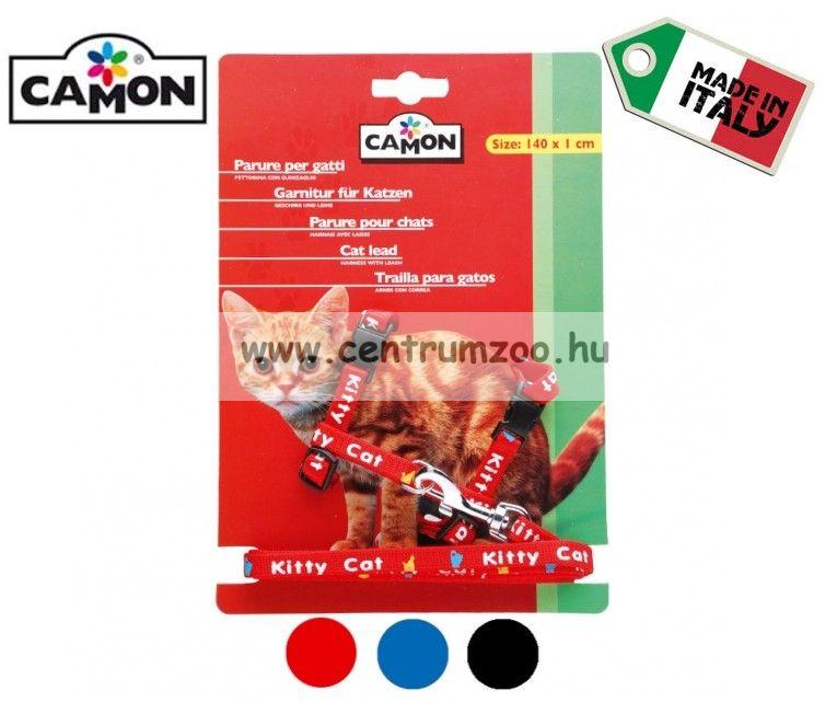 """Camon Parure """"Gattini""""   cicahám + póráz több színben (D631/D)"""
