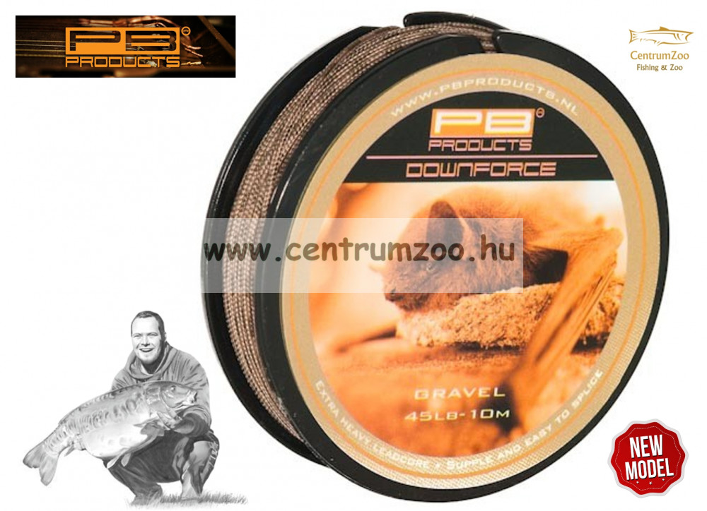 PB PRODUCT Downforce Leadcore ELÕKEZSINÓR 45 LB 10m GRAVEL -sóder szín (DOG45)