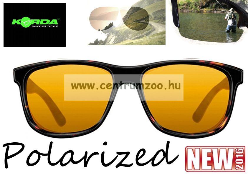 Korda Sunglasses Classics Matt Tortoise - Yellow Lens Polarized napszemüveg (K4D07)