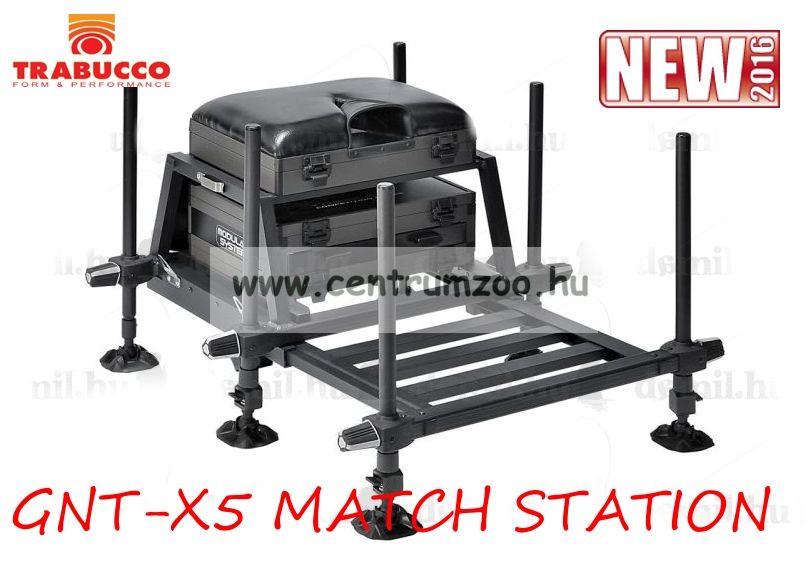 Trabucco SEATBOX GNT-X5 MATCH STATION versenyláda, teljesen felszerelt láda (116-00-670)