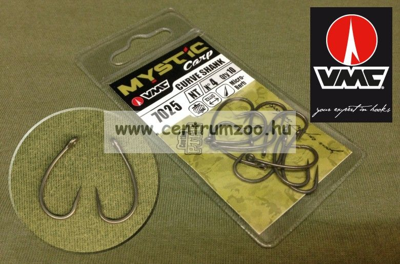 VMC 7025 Mystic Carp Curv Shank pontyozó horog 10db/cs