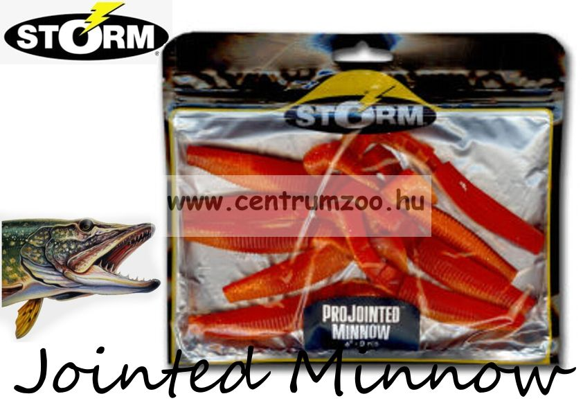 Storm Jointed Minnow PJM05 gumihal csomag 12,7cm 8db Red Orange (PDOR)