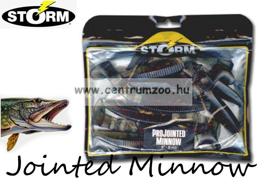 Storm Jointed Minnow PJM05 gumihal csomag 12,7cm 8db Oliva Red (MTL)