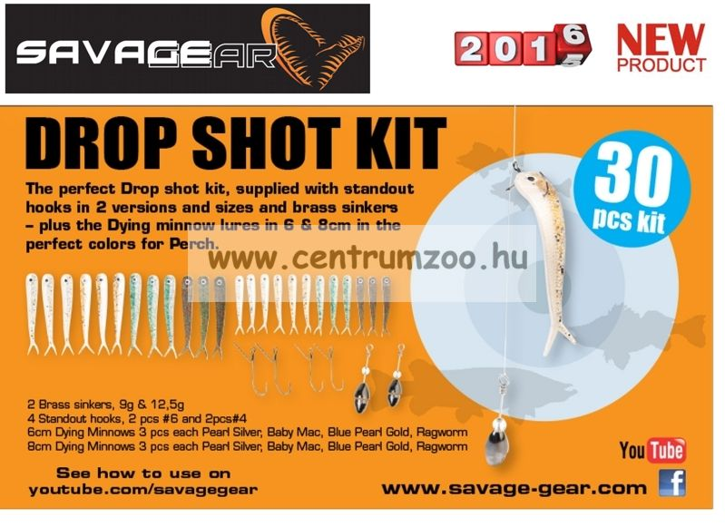 SAVAGE GEAR Dying Minnow Drop Shot Pro Pack Kit  Készlet 30 db-OS DROPSHOT SZETT (48753)