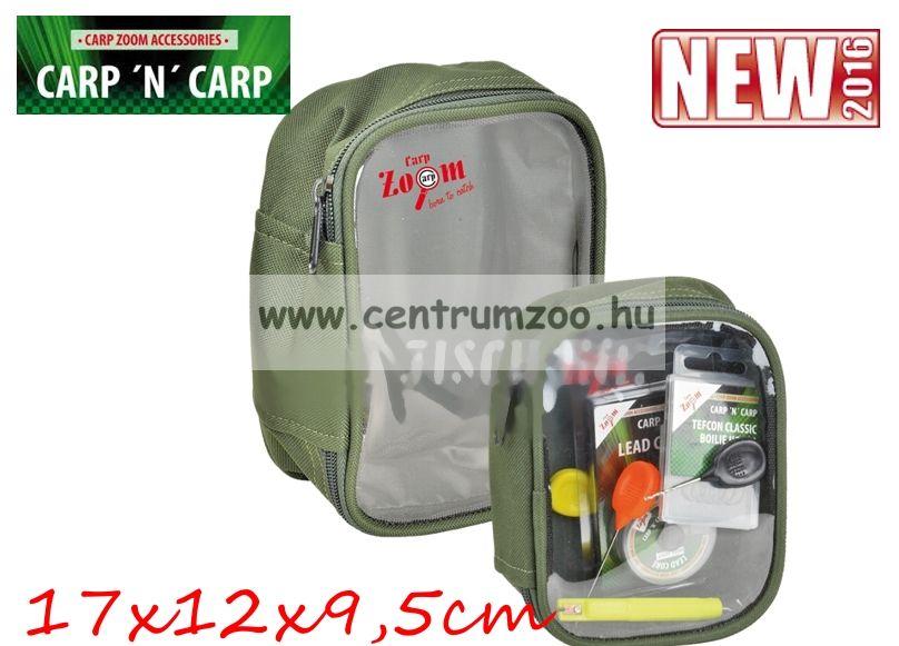 Carp'n'Carp átlátszó tetejű táska XL, zöld  17x12x9,5cm (CZ3477)