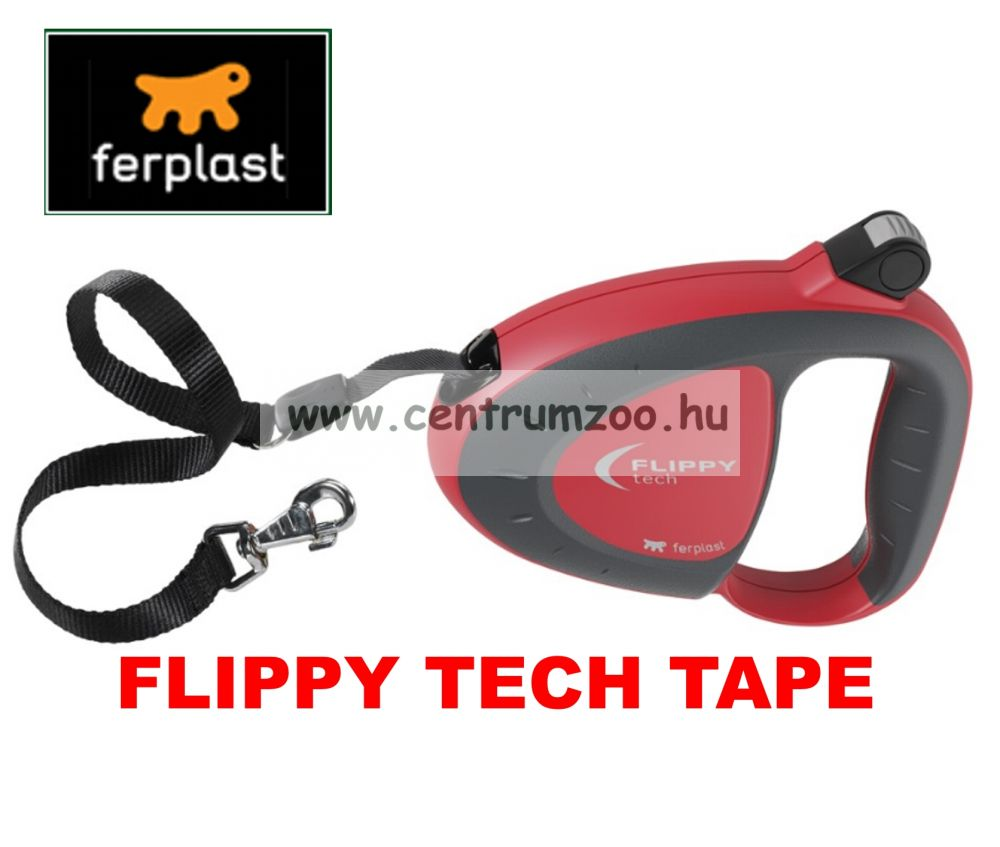Ferplast Flippy Tech Deluxe Tape Large Red szalagos póráz - BORDÓ