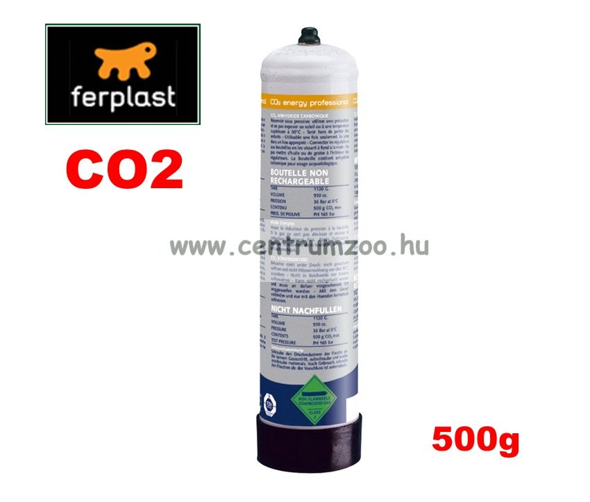 Ferplast CO2 Energy Cylinder gázpalack 500g 36b