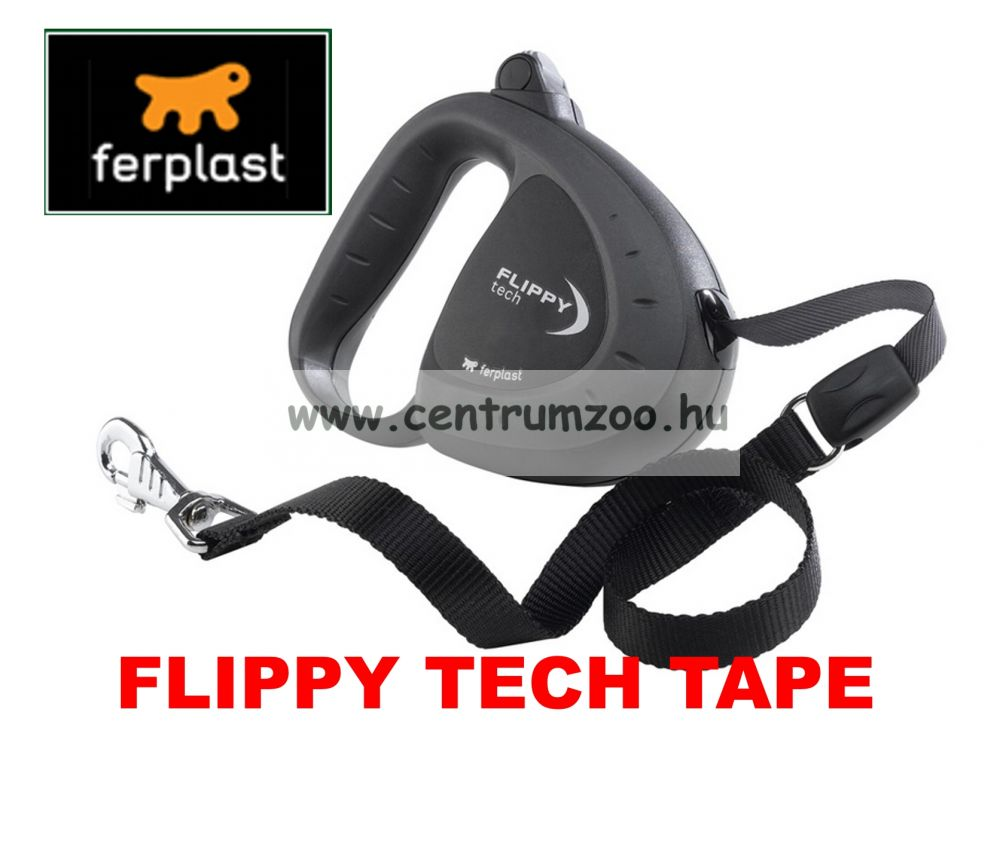 Ferplast Flippy Tech Deluxe Tape Large Black szalagos póráz - FEKETE