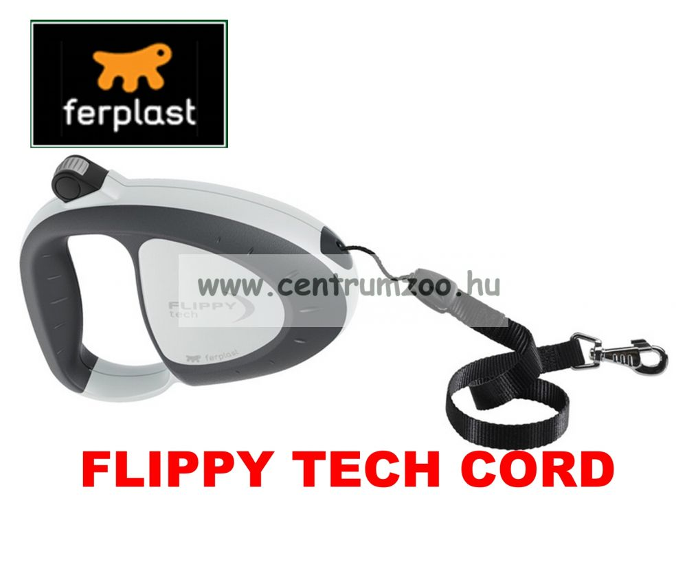 Ferplast Flippy Tech Deluxe Cord Medium Grey zsinóros póráz - SZÜRKE