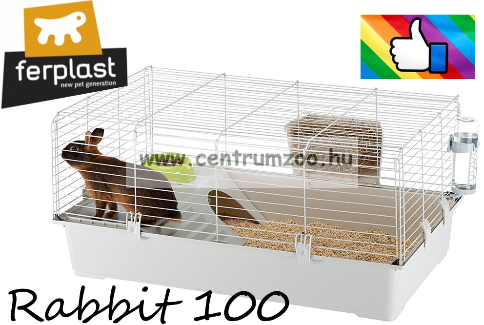 Ferplast Rabbit 100 New Full felszerelt nyúl ketrec