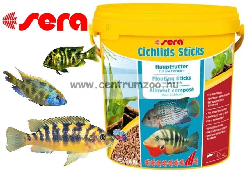 Sera Cichlid Sticks 10l 2kg sügértáp - gazdaságos kiszerelés (0220)