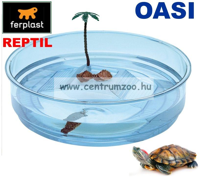 Ferplast Oasis víziteknős tartó terrárium