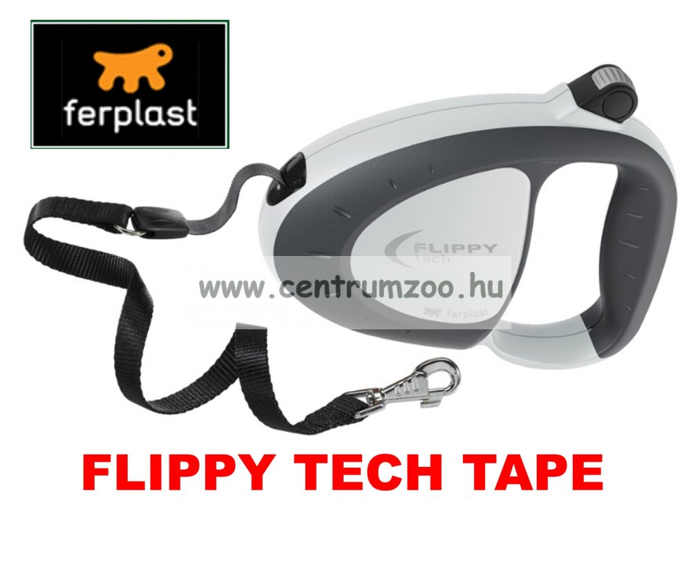 Ferplast Flippy Tech Deluxe Tape Large Grey szalagos póráz - SZÜRKE