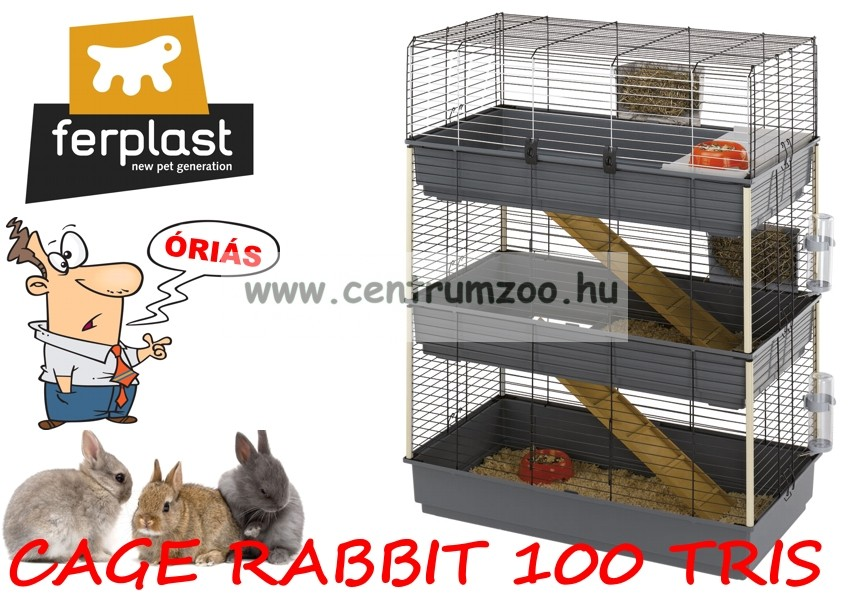 Ferplast Rabbit 100 Tris full felszerelt ketrec