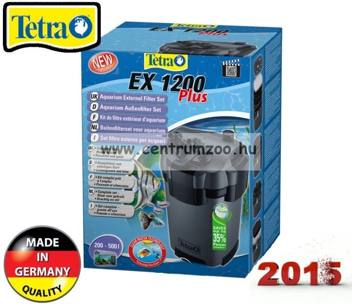 Tetra Tech EX PLUS 1200 külsőszűrő 2015NEW 500l-ig