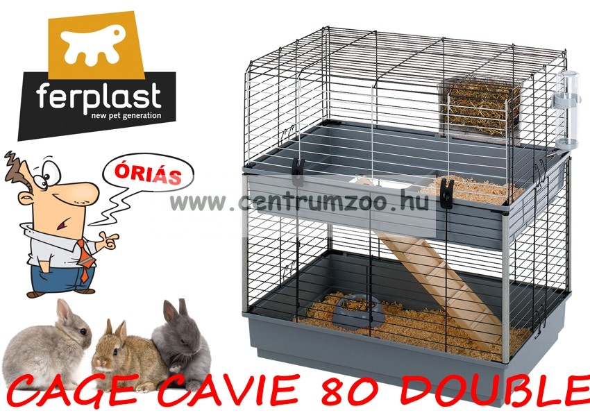 Ferplast Cavie 80 Double Full felszerelt tengerimalac ketrec