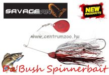 SAVAGE GEAR Da'Bush Spinnerbait 42g #4 Red Silver Flash Flame villantó (43641)