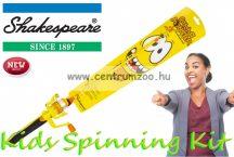 Shakespeare® COSMIC SPINNING COMBO Catch a Monster Kids Spin Rods Yellow szett (1506890) sárga