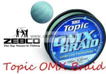 Zebco Topic OMX BRAID 250m 0,28mm 18,5kg fonott zsinór