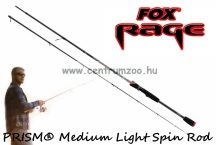 FOX Rage PRISM® Medium Spin Rod 210cm - 5-21g - 2rész Pergető bot (NRD234)