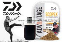 Daiwa Advantage Baits Method Natural Scopex Pellet Box 500g pellet +75ml locsoló (13300-200) étvágyfokozó