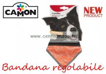 Camon Bandana regolabile Fluo Orange - Medium - kendő kutyáknak (DC309/3)