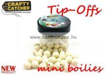 Crafty Catcher Tip Offs mini boilies  - 6 és 8 mm  20 g - White Krill - fehér rák