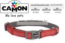 Camon Cubic Red 20mm 34-52cm széles textil nyakörv (DC108/C)