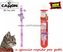 Camon Cat Collare a sgancio rapido per gatti textil nyakörv cicáknak több színben (DG027)