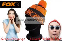 sapka - Fox Black & Orange - Lined Bobble Hat kötött sapka (CPR991)