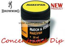 BROWNING Match & Feeder Dip yellow/brown Marzipan 30ml tömény dip (3900004) - marcipán