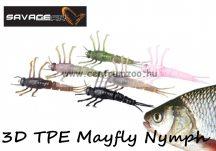 Savage Gear 3D TPE Mayfly Nymph 5cm 2.5g - 04-Black (50674) fekete