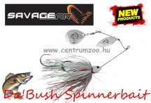 SAVAGE GEAR Da'Bush Spinnerbait 42g #4 White Silver Holo Flame villantó (42149)