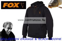 FOX  Collection Black Orange Hoodie pulóver XLARGE (CCL004)