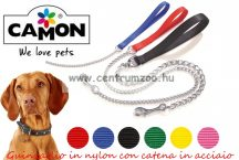 Camon Eash With Steel Chain láncos póráz 80cm 3mm (F162/01) PIROS