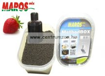 Maros Mix Method Box 2in1 Red Halibut pellet+locsoló - Édes Szamóca (MAPE017)