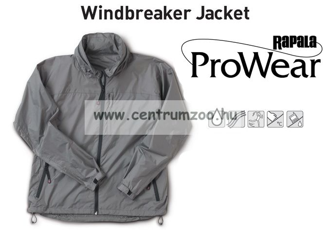 Rapala Pro Wear Windbreaker Jacket, Grey, XL viharkabát (211