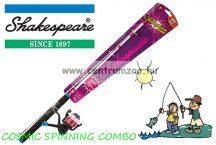 Shakespeare® COSMIC SPINNING COMBO Kids Spin Rods szett (1512023) (COSMICP46SPCBO) lila