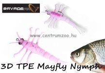Savage Gear 3D TPE Mayfly Nymph 5cm 2.5g - 06-Pink (50676) rózsaszín