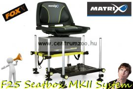 Fox Matrix® F25 Seatbox MKII System Superbox Lime New Edition versenyláda forgó üléssel GMB155+GMB117 (GMB156)